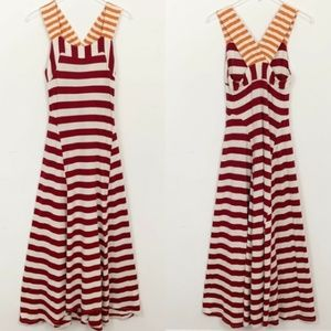 New With Tags Anthropologie HWR Stripe Maxi Dress
